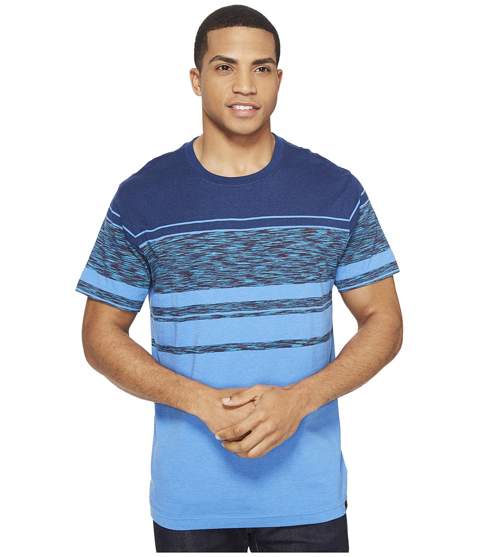 Prana - Throttle Crew (Future Blue) Men's Short Sleeve Knit