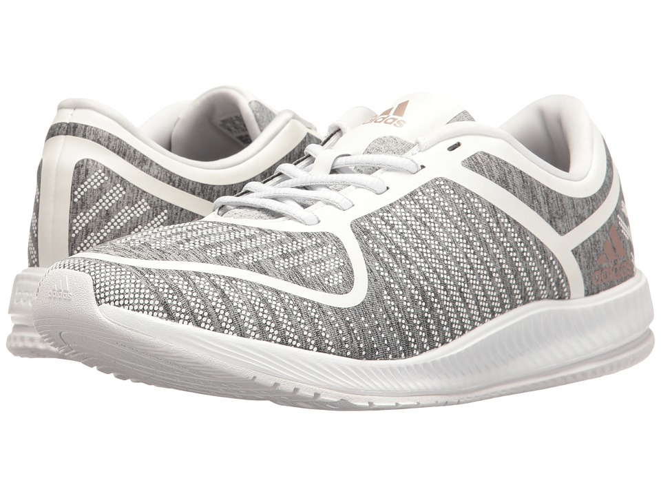 adidas - Athletics Bounce (Light Grey Heather/Vapour Grey Metallic/White) Women's Cross Training Shoes