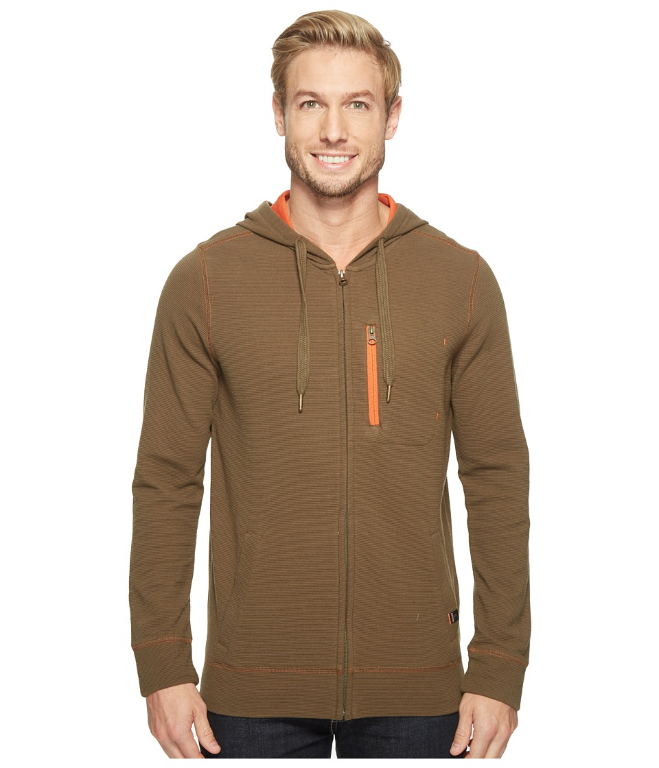 Prana - Wes Full Zip Hoodie (Cargo Green) Men's Sweatshirt