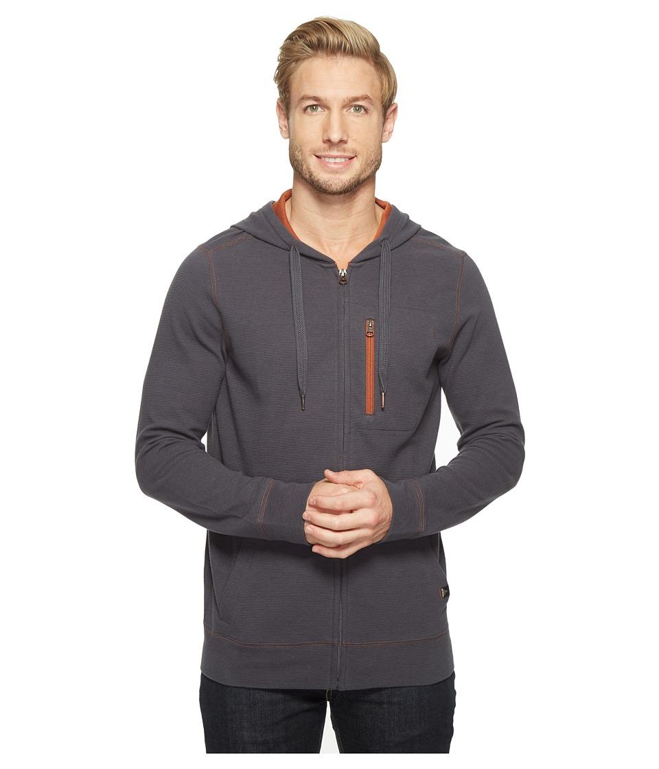Prana - Wes Full Zip Hoodie (Coal) Men's Sweatshirt