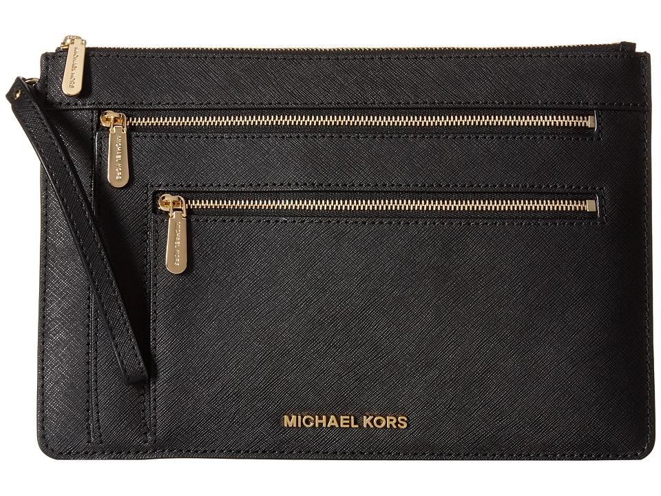 MICHAEL Michael Kors - Jet Set Travel Xl Triple Zip Clutch (Black) Clutch Handbags
