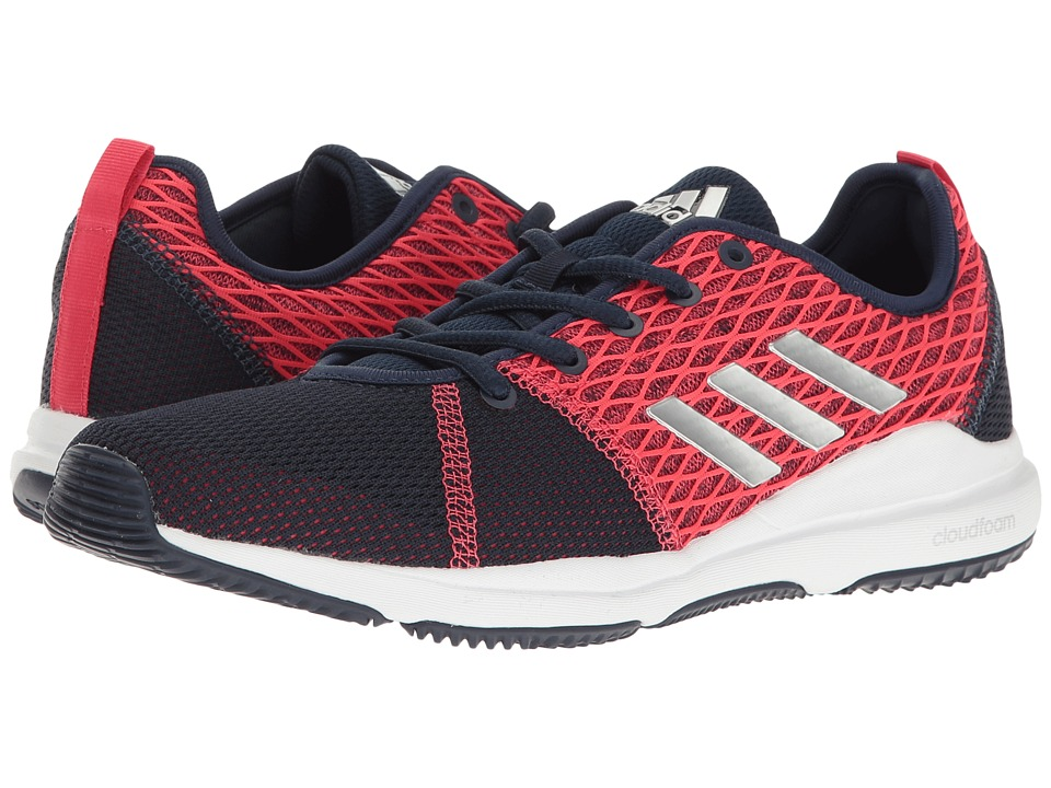 adidas - Arianna Cloudfoam (Collegiate Navy/Silver Metallic/Core Pink) Women's Cross Training Shoes