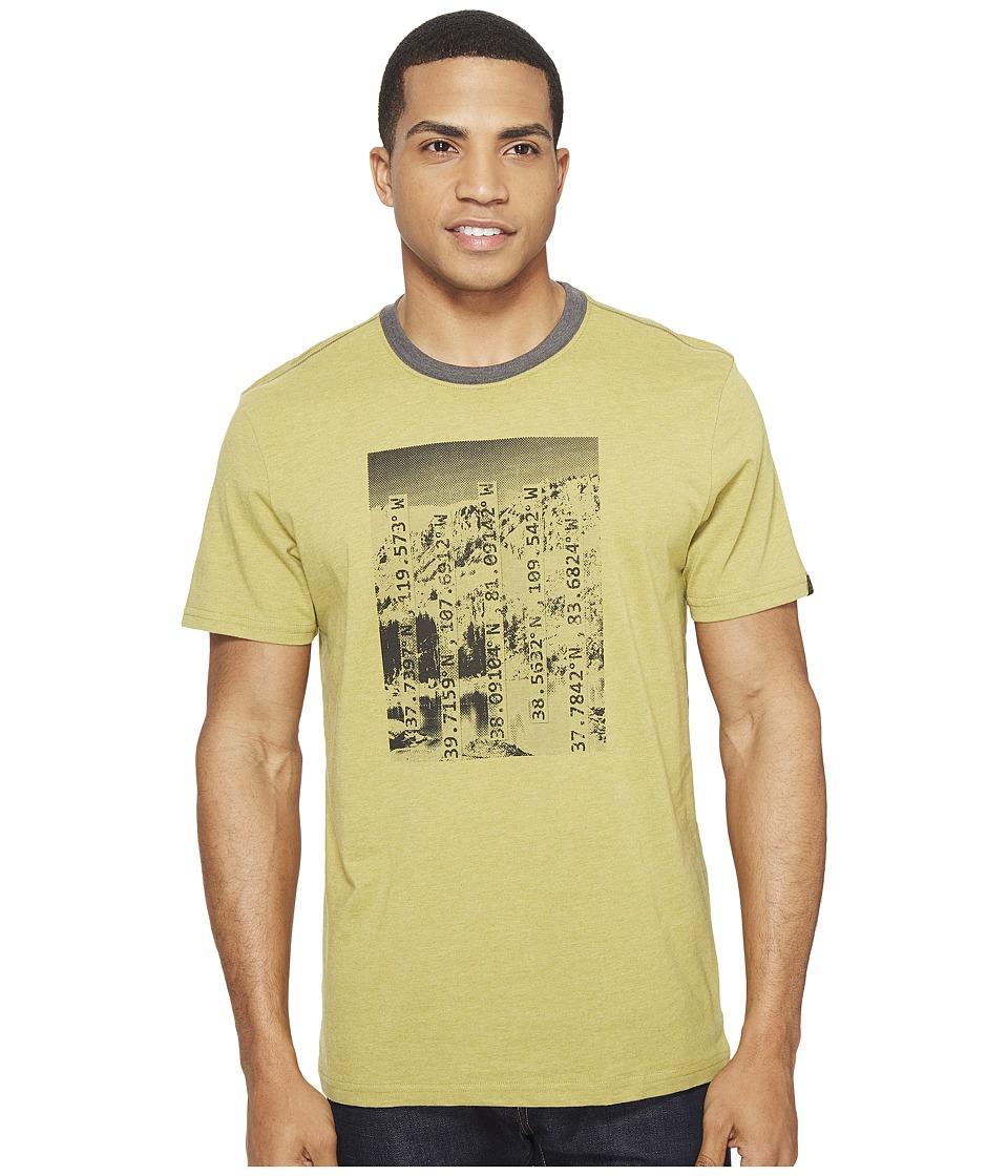 Prana - Coordinates Ringer Tee (Pear) Men's T Shirt