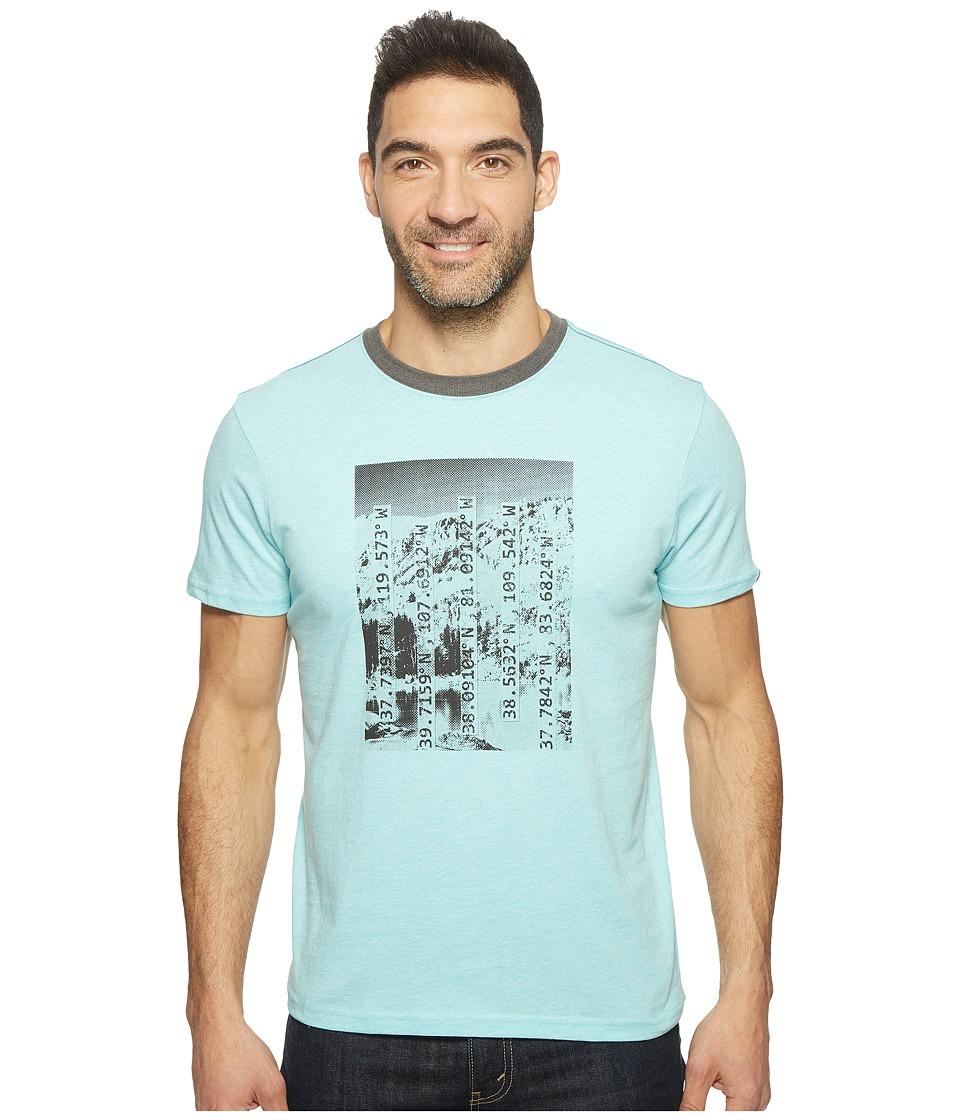 Prana - Coordinates Ringer Tee (Surf Blue) Men's T Shirt