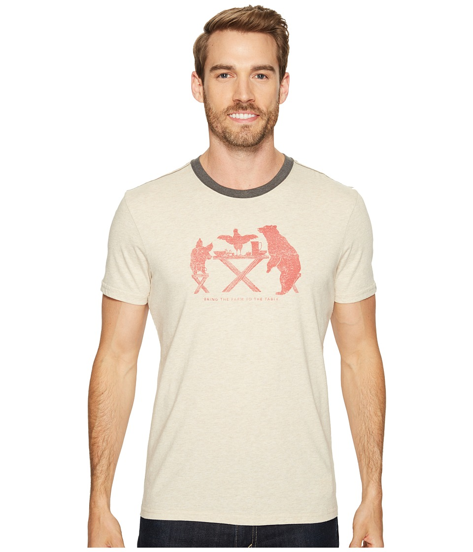 Prana Farm to Table Ringer Tee (Stone) Men