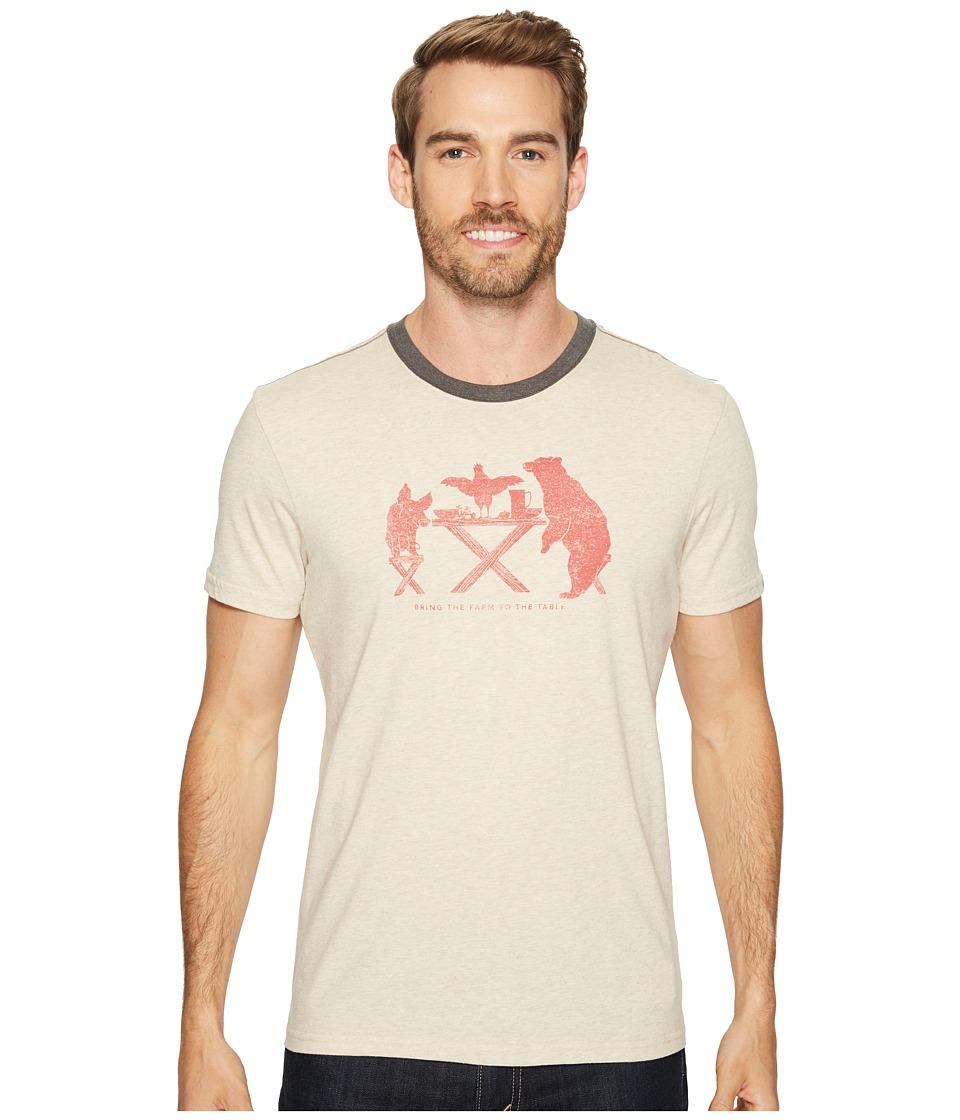 Prana - Farm to Table Ringer Tee (Stone) Men's T Shirt