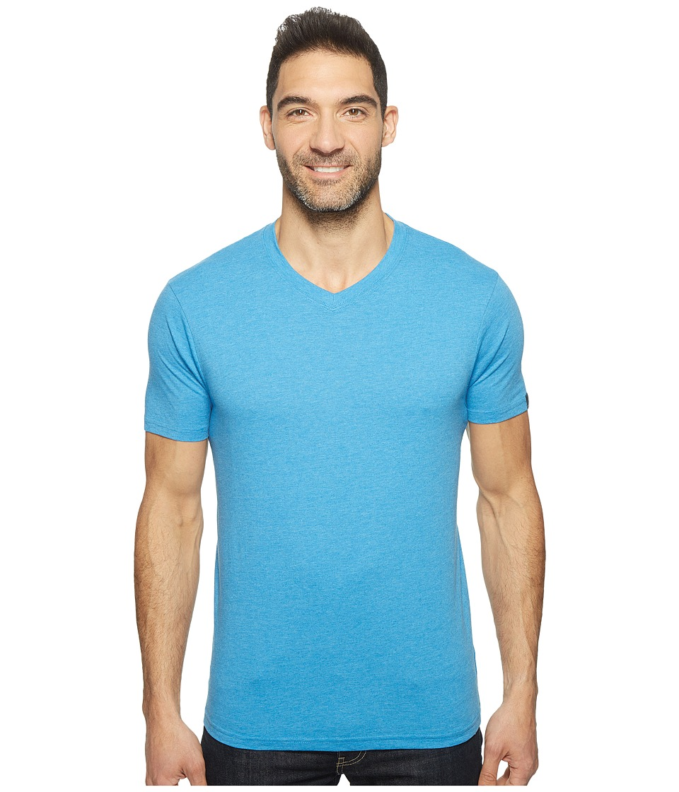 Prana - prAna(r) V-Neck Tee (Vortex Blue) Men's Short Sleeve Pullover