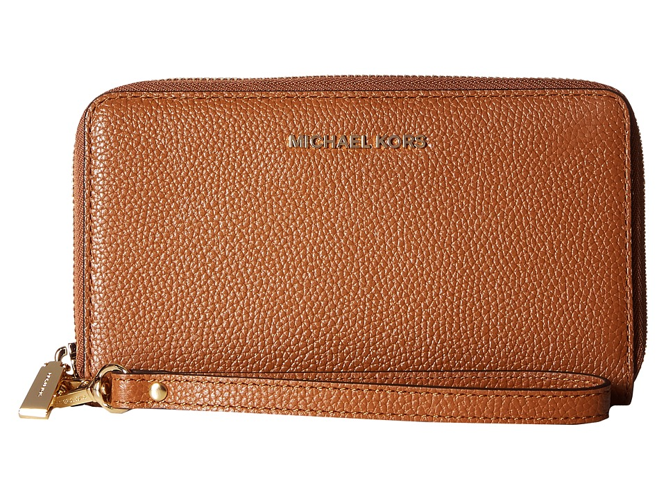 MICHAEL Michael Kors - Mercer Lg Flat Mf Phn Case (Luggage) Cell Phone Case