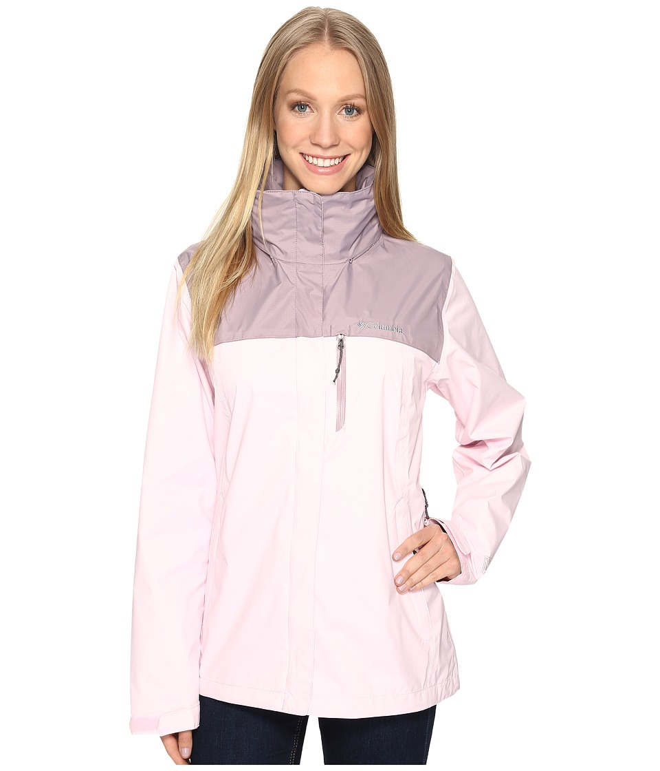 Columbia - Pourationtm Jacket (Whitened Pink/Sparrow) Women's Coat