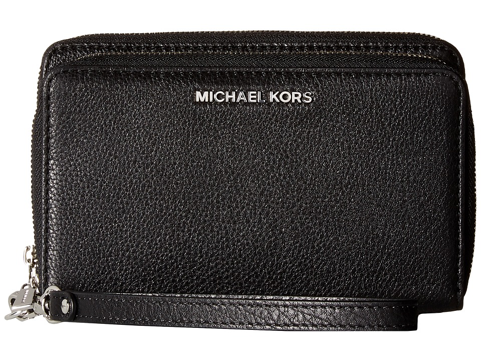 MICHAEL Michael Kors - Adele Large Flat Multifunction Phone Case (Black) Cell Phone Case