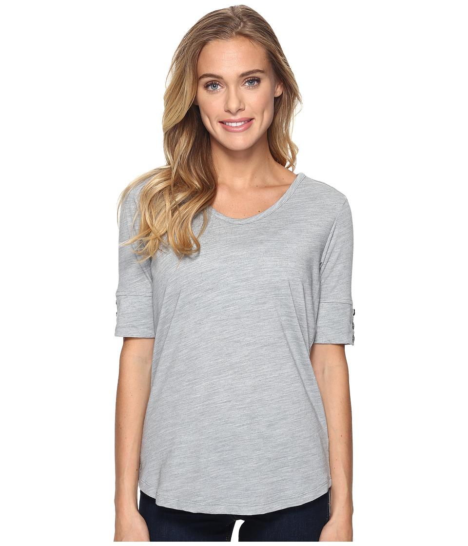 Royal Robbins - Merinolux V-Neck Tee (Light Pewter) Women's T Shirt