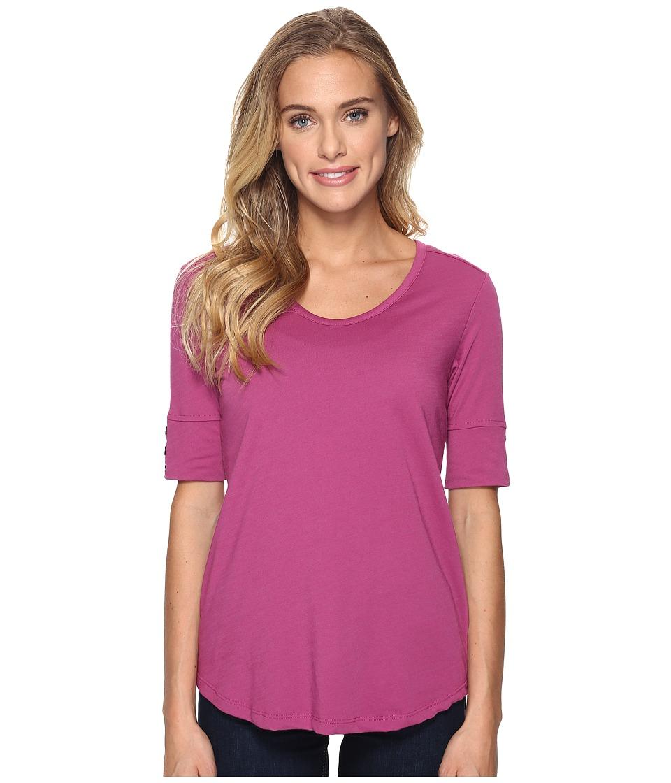 Royal Robbins - Merinolux V-Neck Tee (Aster) Women's T Shirt