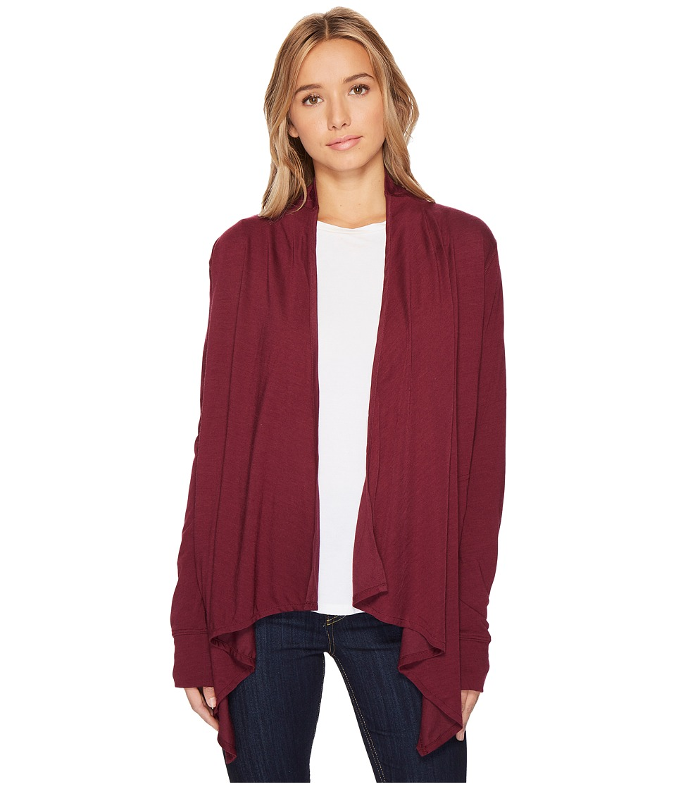 Royal Robbins Merinolux Sweater Wrap (Plum Wine) Women