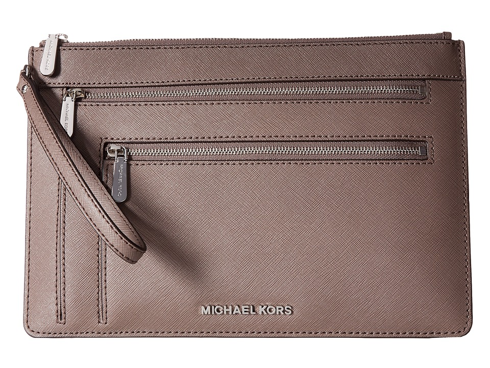 MICHAEL Michael Kors - Jet Set Travel Xl Triple Zip Clutch (Cinder) Clutch Handbags