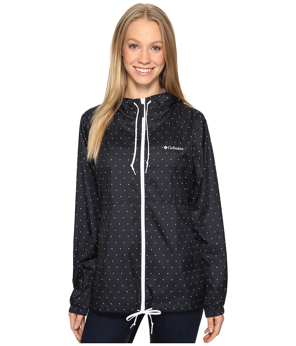 Columbia - Flash Forward Printed Windbreaker (Black Polka Dot) Women's Coat