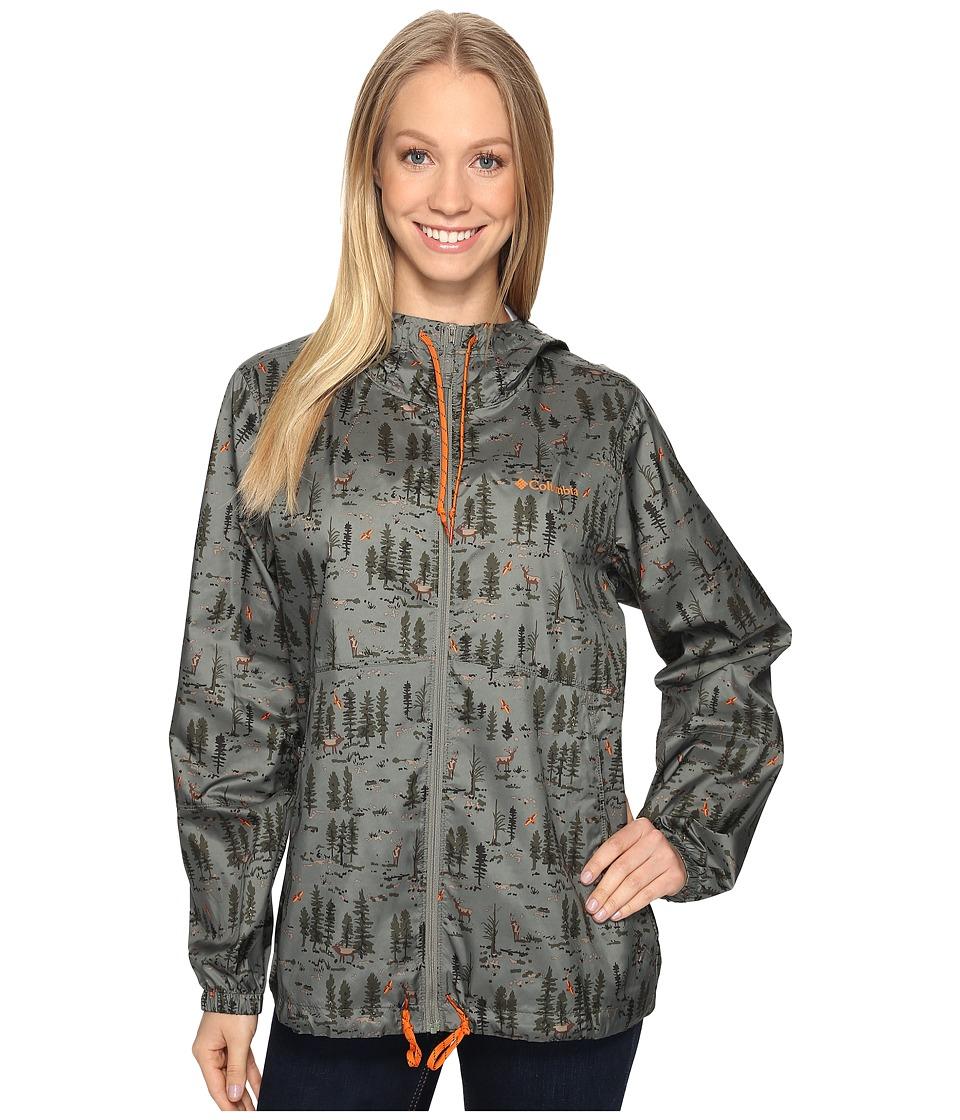Columbia - Flash Forward Printed Windbreaker (Cypress Elk Print) Women's Coat
