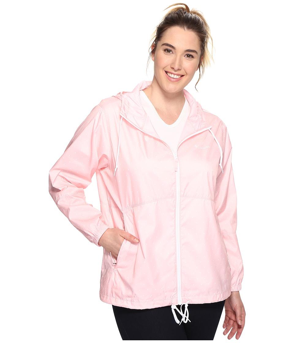 Columbia - Plus Size Flash Forward Printed Windbreaker (Cherry Blossom Polka Dot) Women's Coat