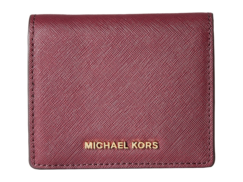 MICHAEL Michael Kors - Jet Set Travel Carryall Card Case (Plum) Credit card Wallet