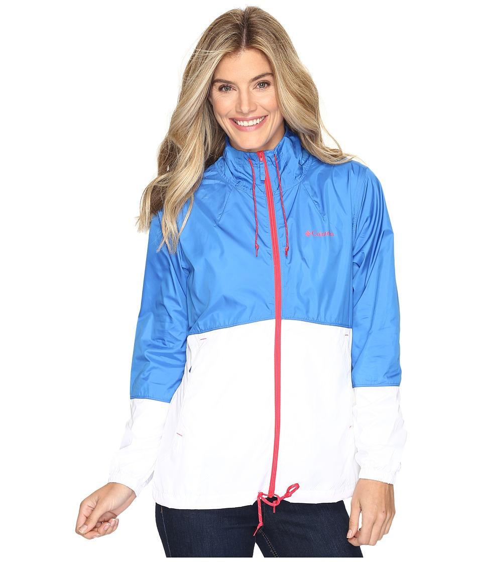Columbia - Flash Forward Windbreaker (Stormy Blue/White/Red Camellia) Women's Coat