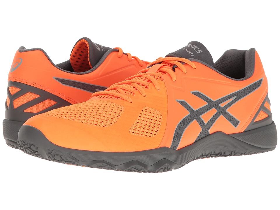 ASICS - Conviction X (Shocking Orange/Carbon/Mid Grey) Men's Cross Training Shoes