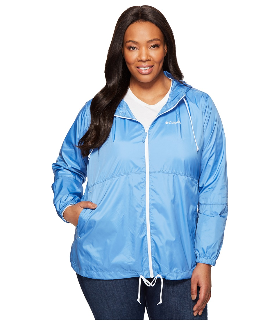 Columbia - Plus Size Flash Forward Windbreaker (Medieval/White) Women's Coat
