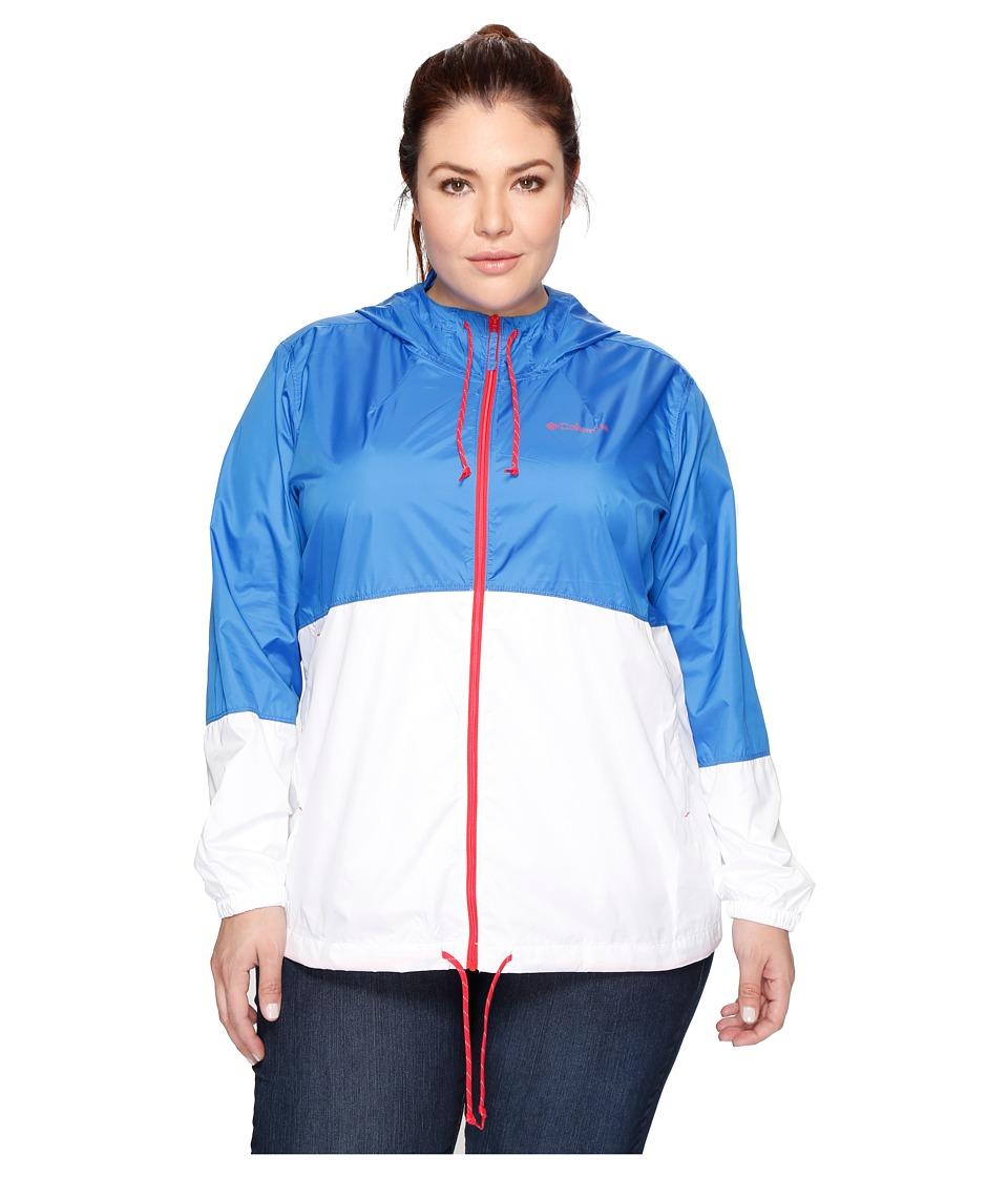 Columbia - Plus Size Flash Forward Windbreaker (Stormy Blue/White/Red Camellia) Women's Coat