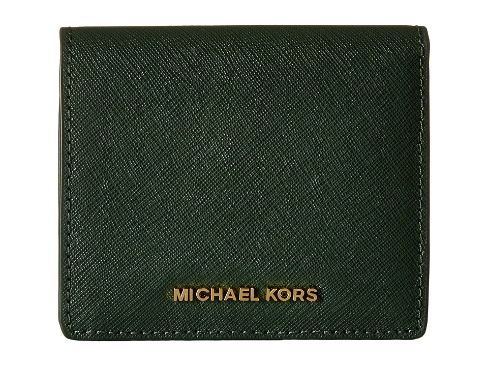 MICHAEL Michael Kors - Jet Set Travel Carryall Card Case (Moss) Credit card Wallet