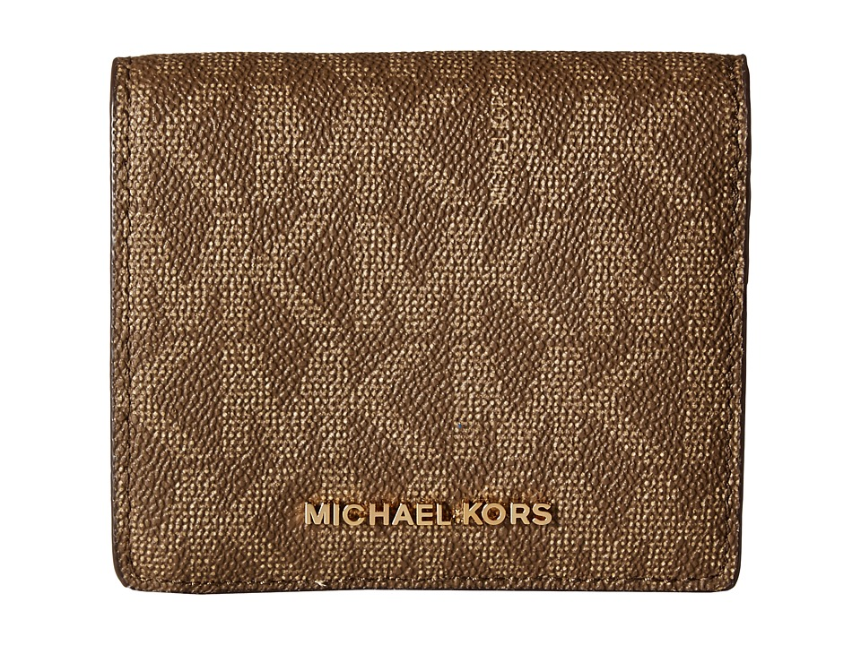 MICHAEL Michael Kors - Jet Set Travel Carryall Card Case (Mocha) Credit card Wallet