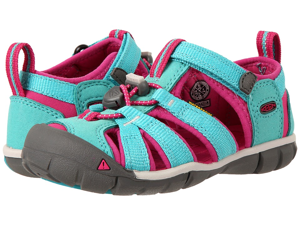 Keen Kids Seacamp II CNX (Toddler/Little Kid) (Viridian/Very Berry) Girls Shoes