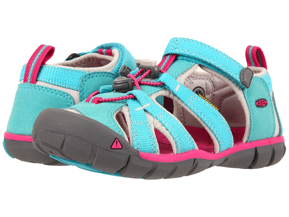 Keen Kids - Seacamp II CNX (Little Kid/Big Kid) (Viridian/Very Berry) Girls Shoes