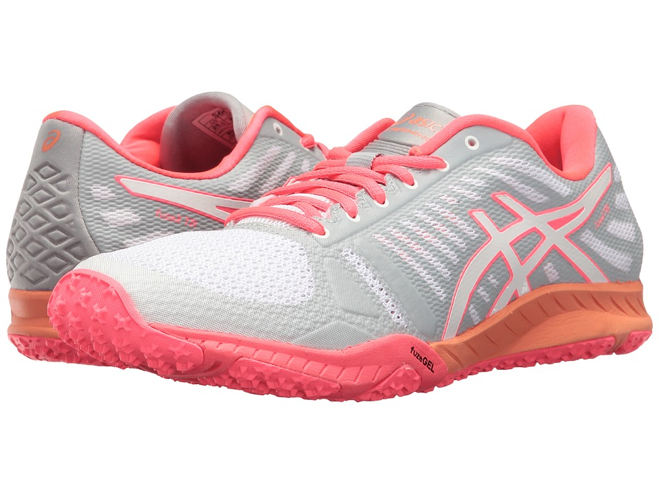 ASICS - FuzeX TR (White/Diva Pink/Mid Grey) Women's Cross Training Shoes