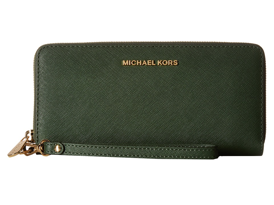 MICHAEL Michael Kors - Jet Set Travel Travel Continental (Moss) Clutch Handbags