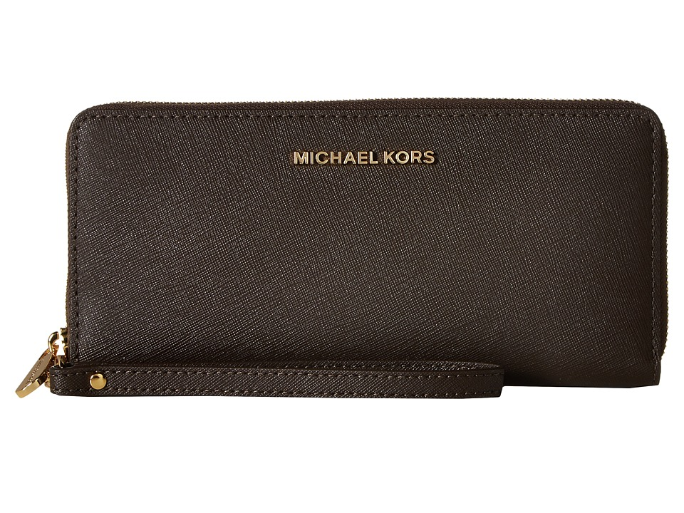 MICHAEL Michael Kors - Jet Set Travel Travel Continental (Coffee) Clutch Handbags