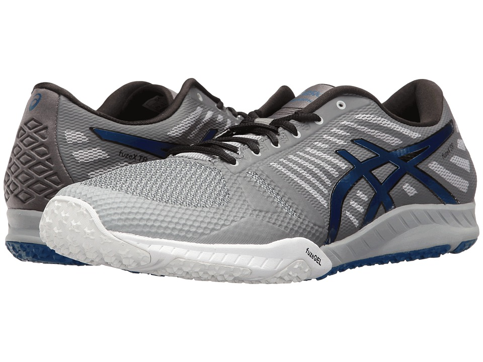 ASICS - FuzeX TR (Mid Grey/Imperial/Carbon) Men's Cross Training Shoes