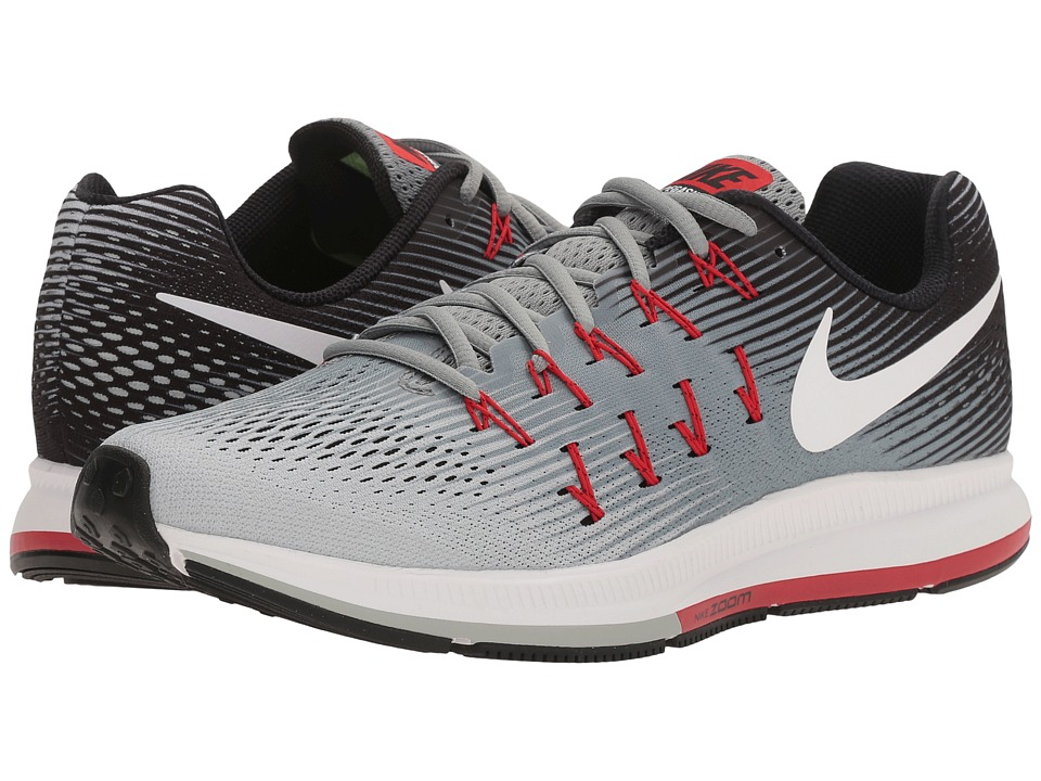 Nike - Air Zoom Pegasus 33 (Stealth/White/Pure Platinum/Black/Orange) Men's Running Shoes