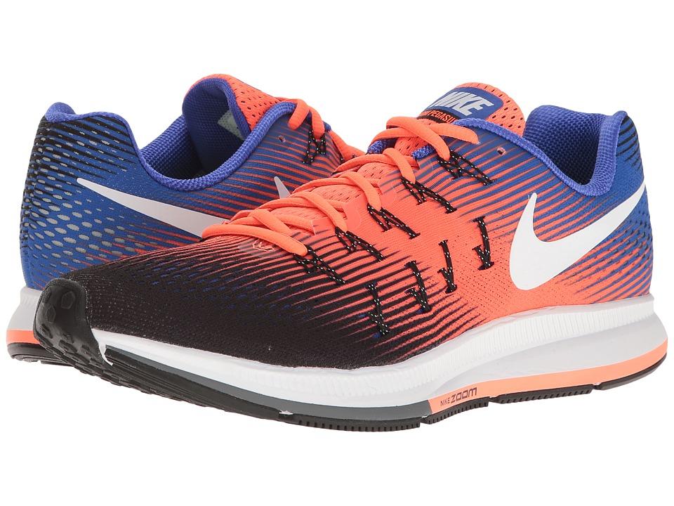 Nike - Air Zoom Pegasus 33 (Black/White/Hyper Orange/Paramount Blue) Men's Running Shoes