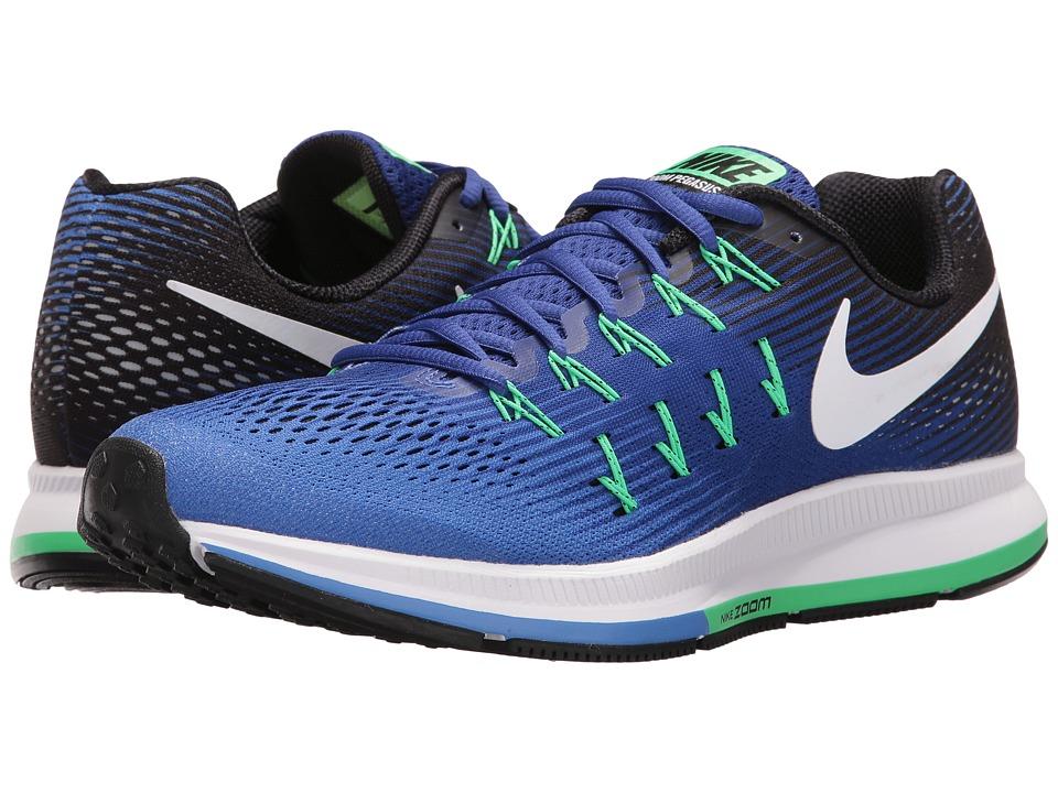 Nike - Air Zoom Pegasus 33 (Medium Blue/White/Deep Night/Black) Men's Running Shoes