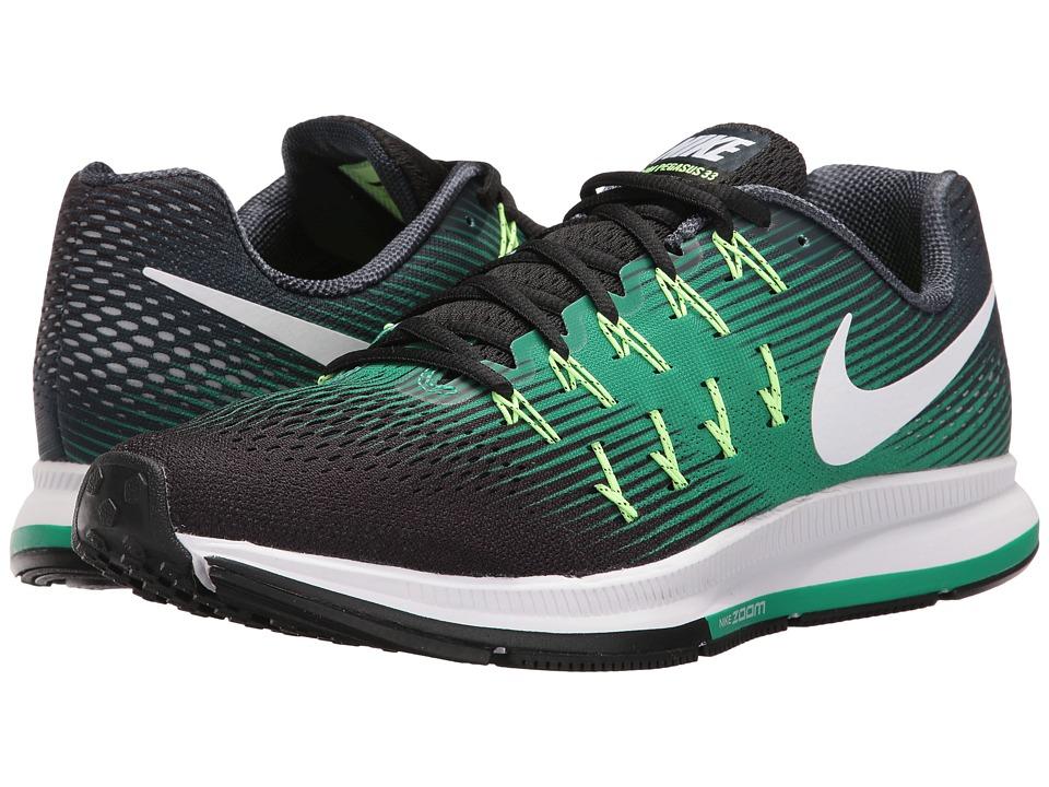 Nike - Air Zoom Pegasus 33 (Armory Navy/White/Black/Stadium Green) Men's Running Shoes