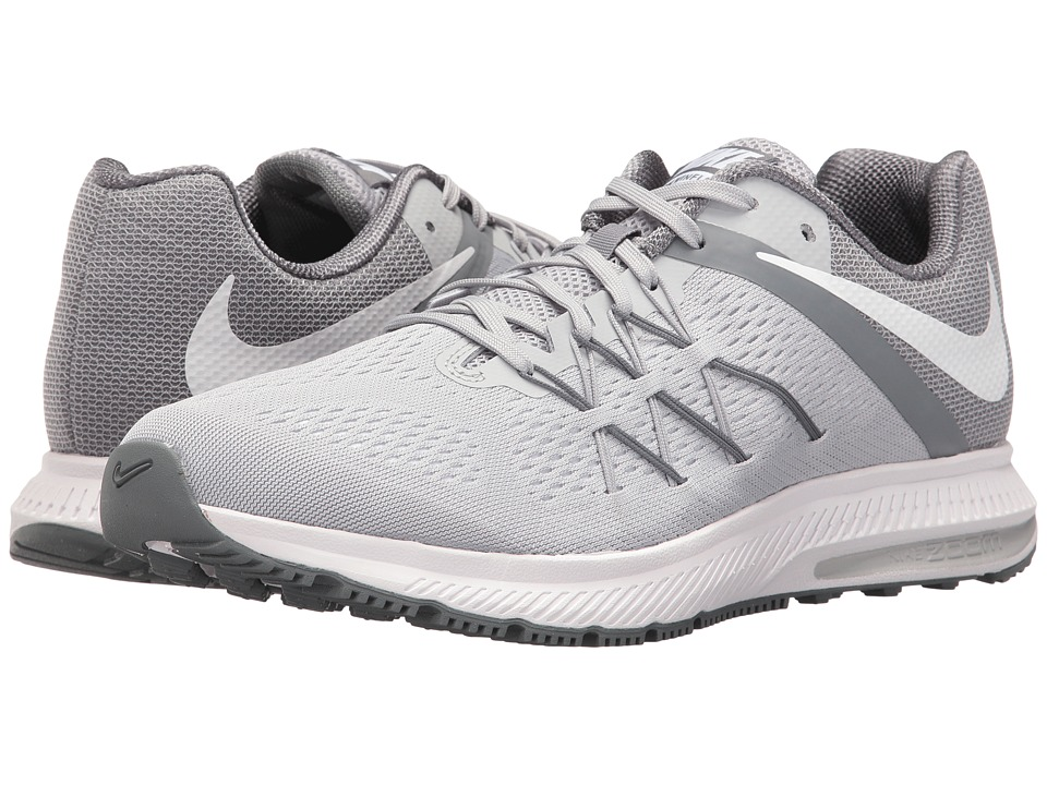 Nike - Zoom Winflo 3 (Wolf Grey/White/Cool Grey/White) Men's Running Shoes