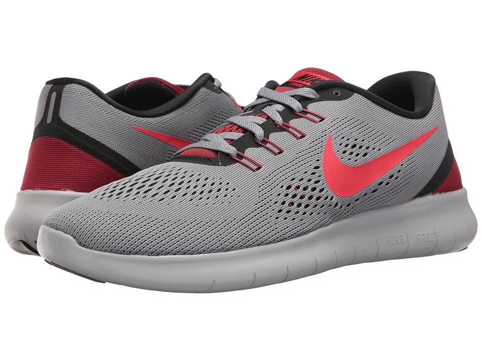 Nike - Free RN (Cool Grey/Action Red/Black) Men's Running Shoes