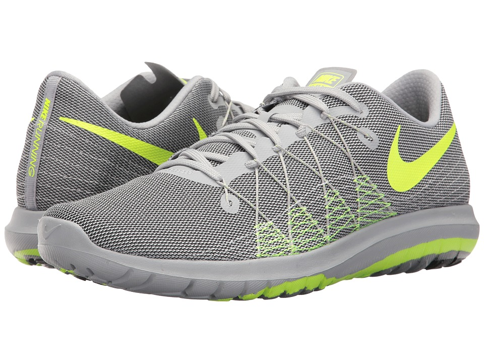 Nike - Flex Fury 2 (Wolf Grey/Volt/Anthracite/Pure Platinum) Men's Running Shoes