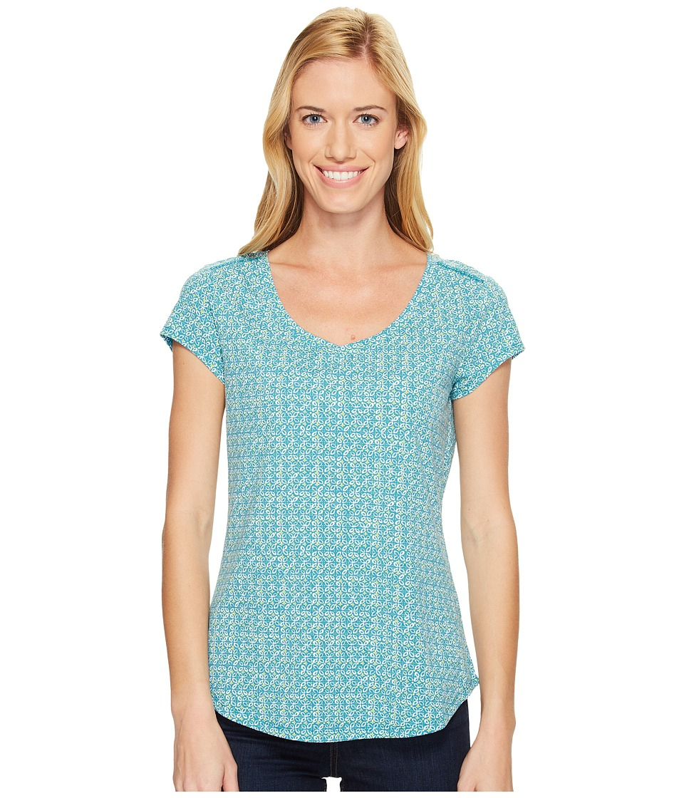 Royal Robbins - Active Essential Talavera Short Sleeve Top (Reservoir) Women's Short Sleeve Pullover