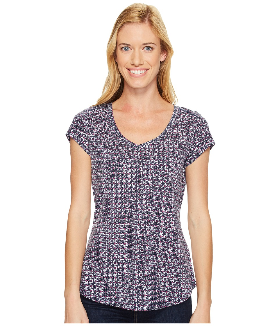 Royal Robbins - Active Essential Talavera Short Sleeve Top (Navy) Women's Short Sleeve Pullover