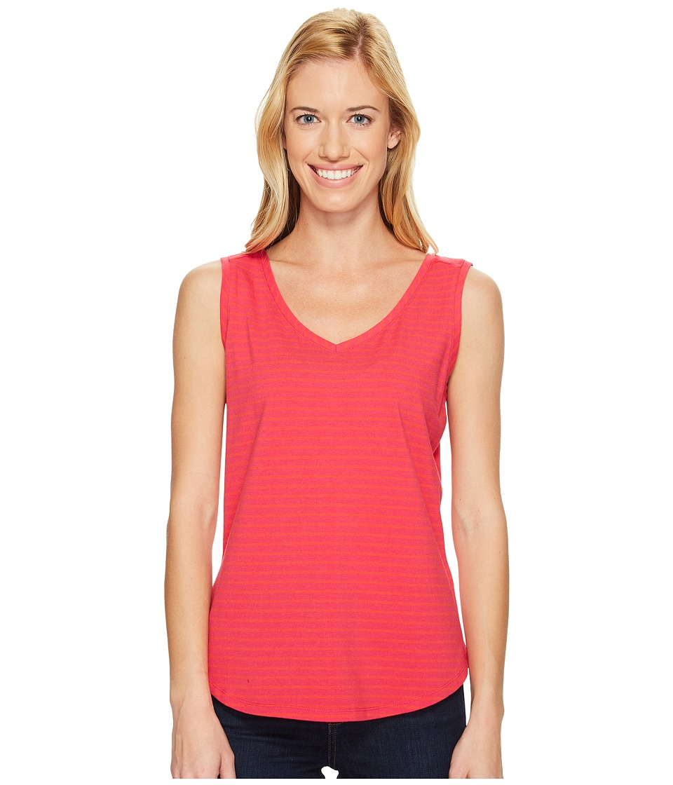 Royal Robbins - Active Essential Stripe Tank Top (Punch) Women's Sleeveless