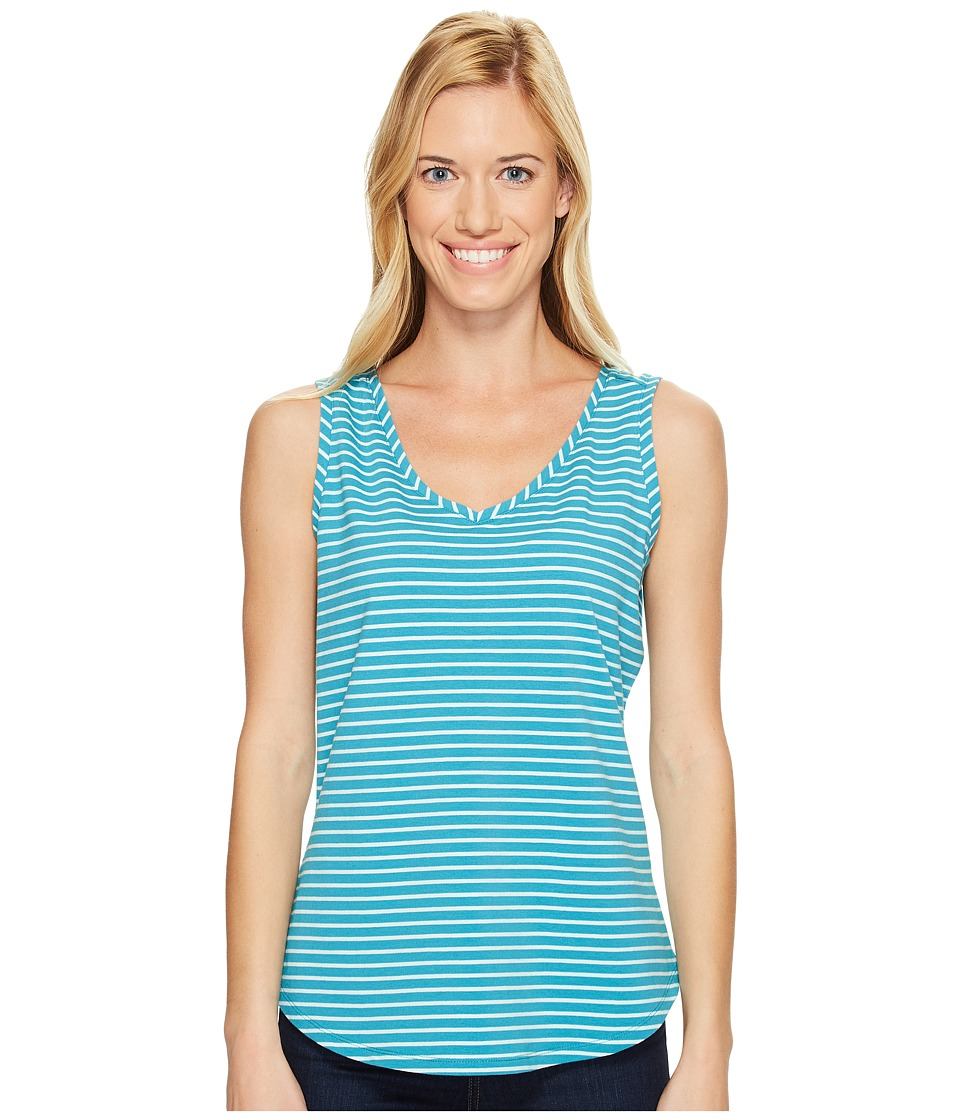 Royal Robbins - Active Essential Stripe Tank Top (Reservoir) Women's Sleeveless