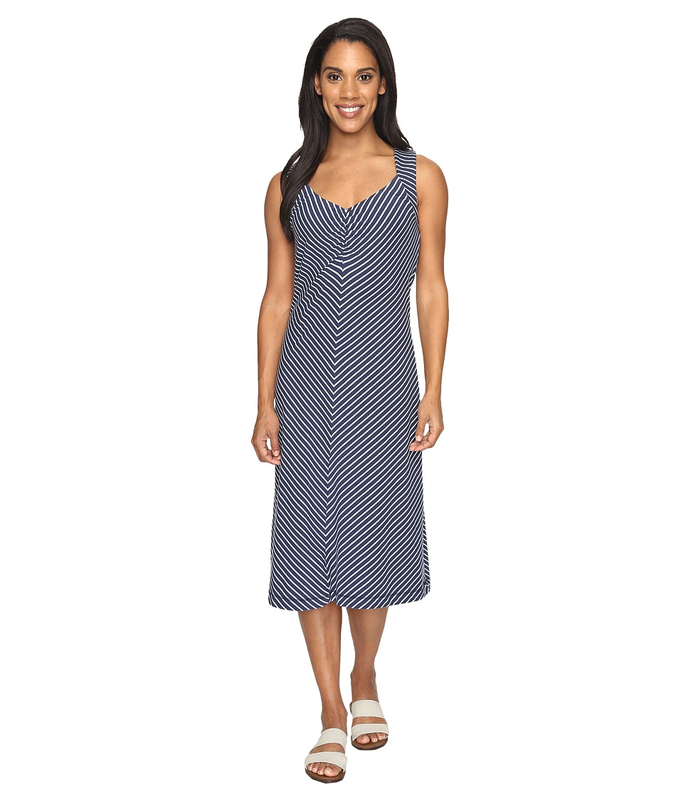 Royal Robbins - Active Essential Stripe Dress (Navy) Women's Dress