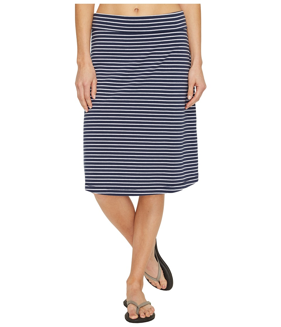 Royal Robbins Active Essential Stripe Skirt (Navy) Women
