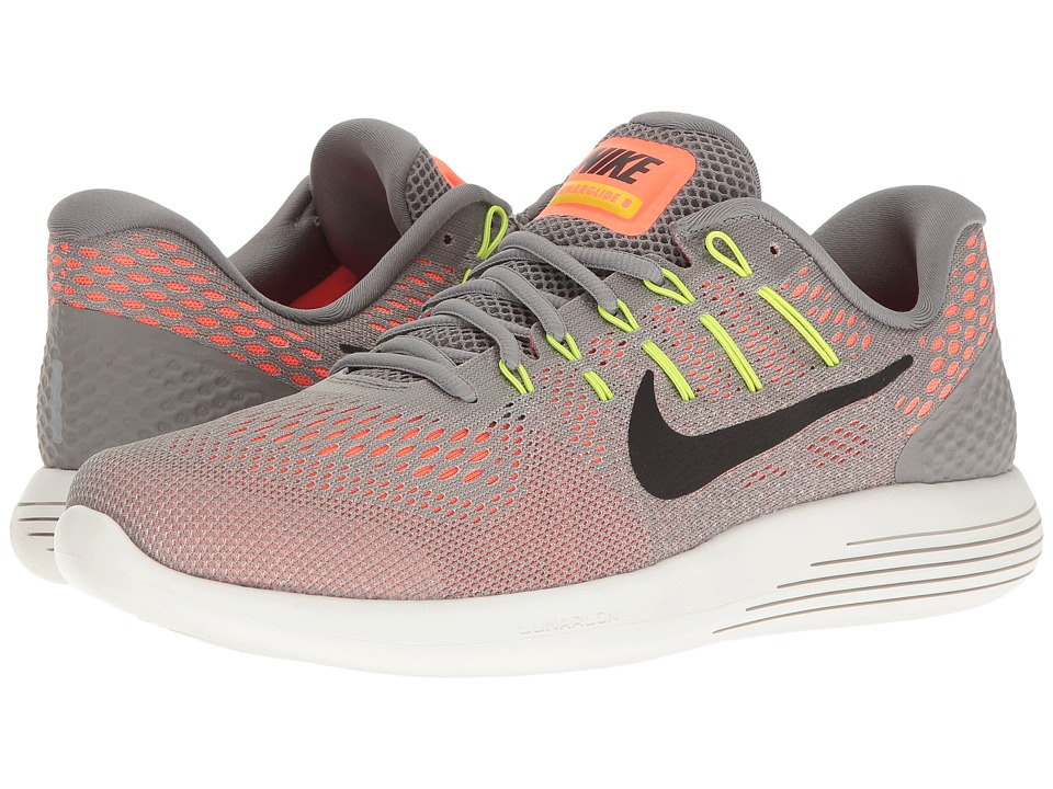 Nike - Lunarglide 8 (Dust/Black/Hyper Orange/Electrolime) Men's Running Shoes
