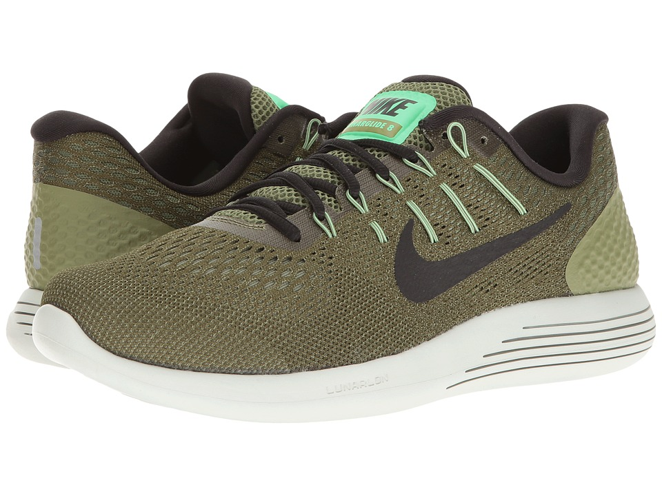 Nike - Lunarglide 8 (Palm Green/Black/Legion Green) Men's Running Shoes