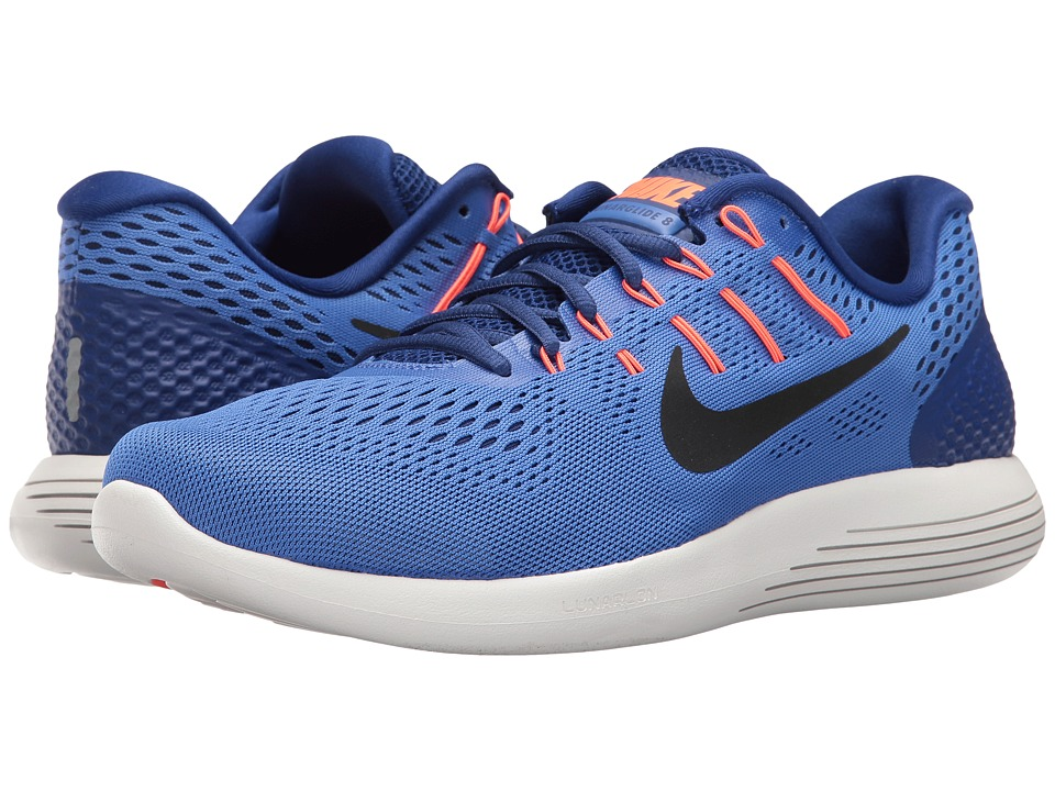 Nike - Lunarglide 8 (Medium Blue/Black/Deep Royal Blue) Men's Running Shoes